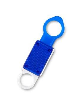 Colgador De Botellas Light En Caucho y Carabinero - Azul