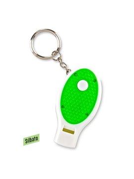 Llavero Linterna Con Pito Shadow Plastico Reflectivo - Verde