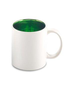 Mug Ceramica Stardust 12oz Interior Metalizado - Verde Lima