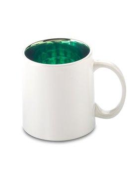 Mug Ceramica Stardust 12oz Interior Metalizado - Verde