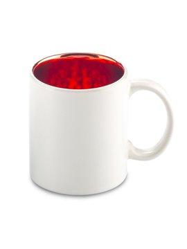 Mug Ceramica Stardust 12oz Interior Metalizado - Rojo