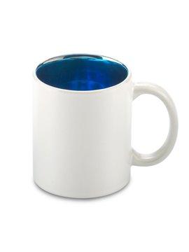 Mug Ceramica Stardust 12oz Interior Metalizado - Azul