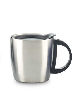 Mug Metalico Savoy 350ml Doble Pared - Plateado