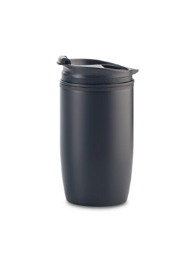 Mug Metalico Nixon 330ml Interior Plastico - Negro