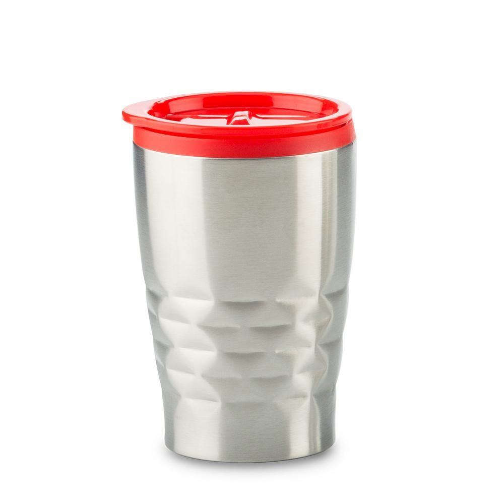 Mug Metalico Blast 330ml Con tapa e Interior Plastico - Rojo
