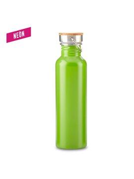 Botella Botilito Metalico Wood 700ml - Verde Neon