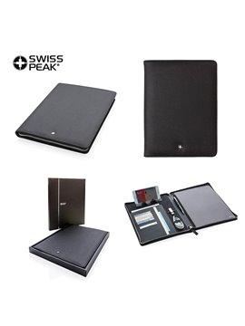 Carpeta Folder Swisspeak A4 Cierre De Cremallera - Negro