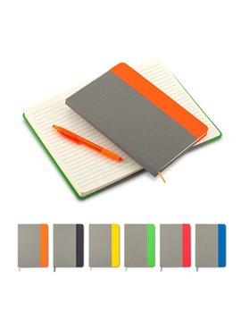 Cuaderno Libreta British Con Cubierta en Poliuretano - Naranja