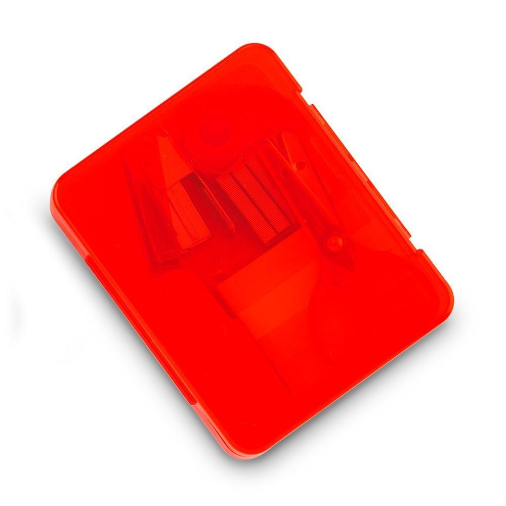 Set 6 Accesorios De Escritorio Garland Plastico - Rojo