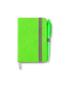 Set De Boligrafo Y Libreta Lawson En Poliuretano - Verde