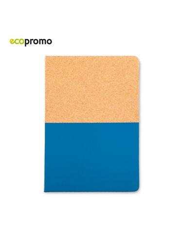 Mini Cuaderno Libreta Cork Cubierta En Carton - Azul Royal