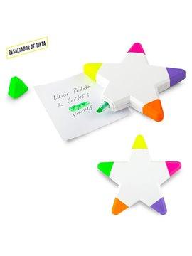 Resaltador Marcador Star Plastico En Tinta - Blanco