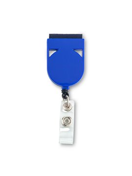 Portaidentificador De Carnet Con Limpiador - Azul