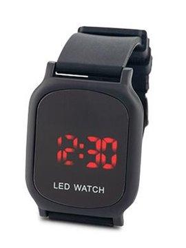 Reloj Digital Glow Manilla En Silicona y Metal - Negro