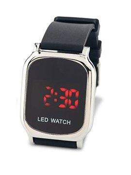 Reloj Digital Glow Manilla En Silicona y Metal - Plateado