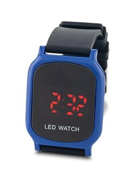 Reloj Digital Glow Manilla En Silicona y Metal - Azul