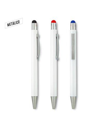 Esfero Boligrafo Snarry Stylus Metalico Push - Negro