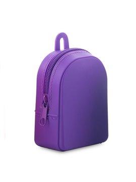 Monedero En Silicona Backpack Flexible - Morado