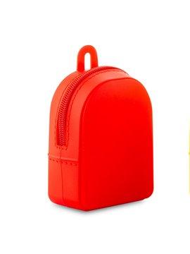 Monedero En Silicona Backpack Flexible - Rojo