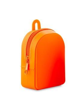 Monedero En Silicona Backpack Flexible - Naranja