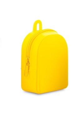 Monedero En Silicona Backpack Flexible - Amarillo