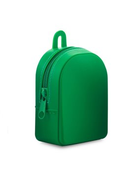 Monedero En Silicona Backpack Flexible - Verde