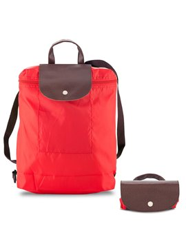 Morral Maletin Backpack Plegable Venecia En Poliester - Rojo