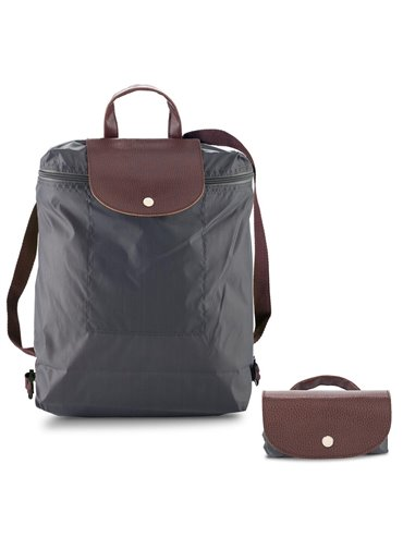 Morral Maletin Backpack Plegable Venecia En Poliester - Gris