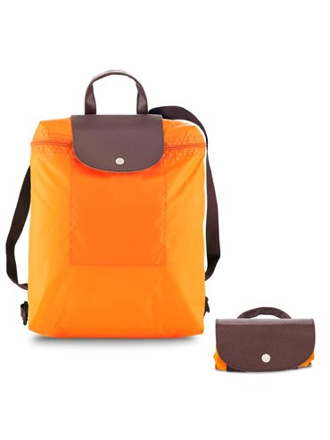 Morral Maletin Backpack Plegable Venecia En Poliester - Naranja
