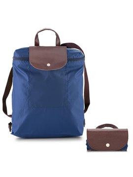 Morral Maletin Backpack Plegable Venecia En Poliester - Azul Oscuro