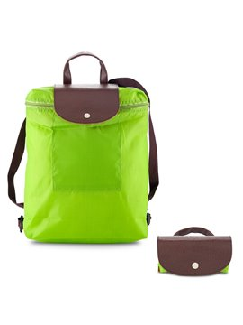 Morral Maletin Backpack Plegable Venecia En Poliester - Verde