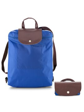 Morral Maletin Backpack Plegable Venecia En Poliester - Azul Royal
