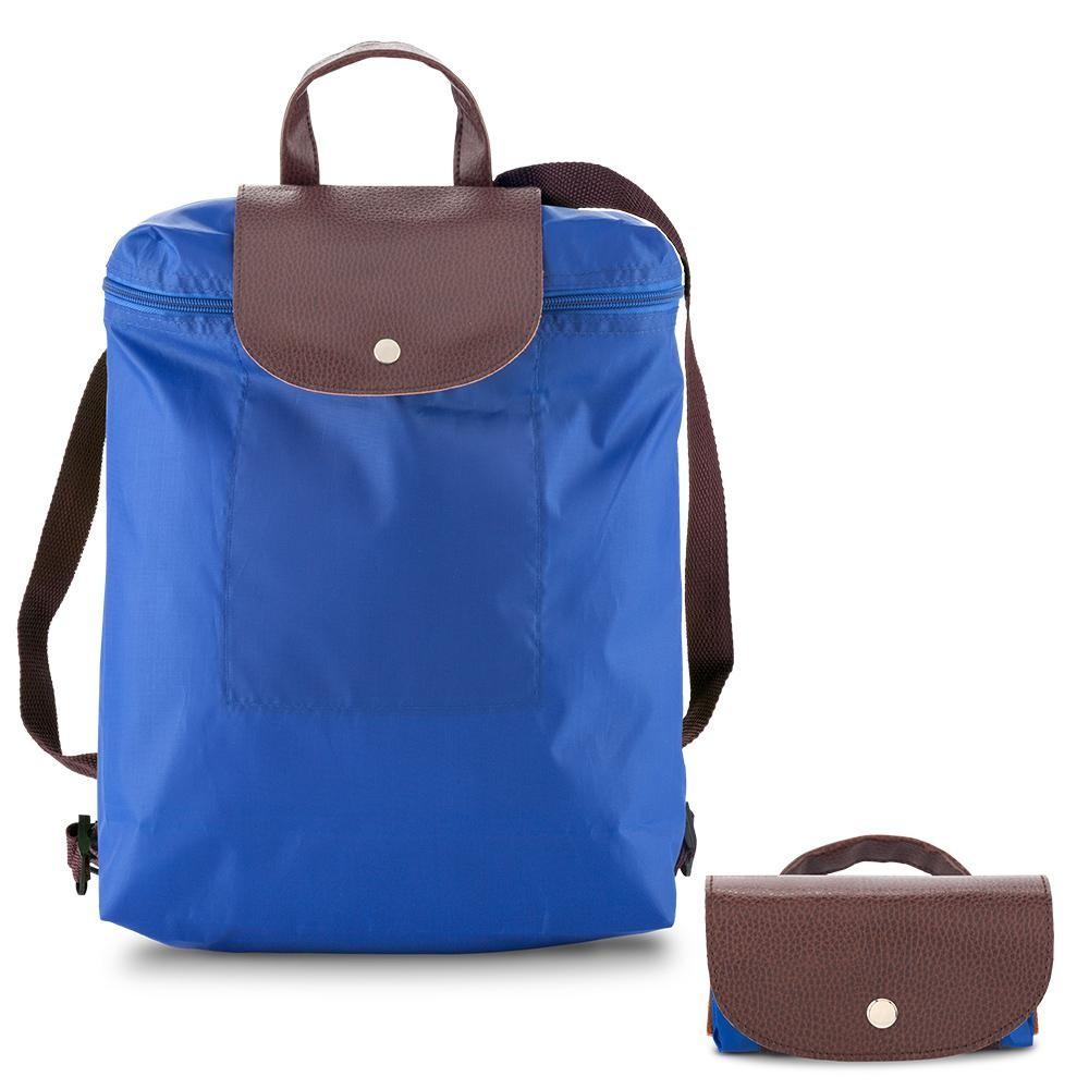 Morral Maletin Backpack Plegable Venecia En Poliester - Azul Royal