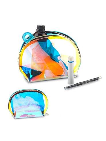 Cartuchera Cosmetiquera Hologram En Poliuretano - Holografico