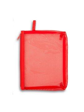 Cartuchera Cosmetiquera Star Poliester Y PVC - Rojo