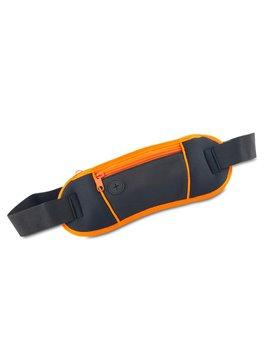 Maletin Canguro Multiusos Loop En Nylon Con Malla - Negro-naranja