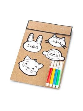 Set De 4 Stickers Kidz Incluye 4 Mini Marcadores - Surtido