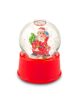 Bola de Navidad Decorativa Santa con liquido y Nieve - Rojo