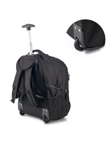 Bolso Maleta Trolley Backpack Senior Poliester - Negro