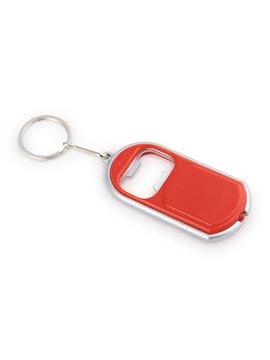 Llavero Linterna Opener Con Linterna Y Destapador - Rojo