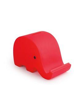 Alcancia Elephant Elaborada En PVC Con Diseno de Elefante - Rojo