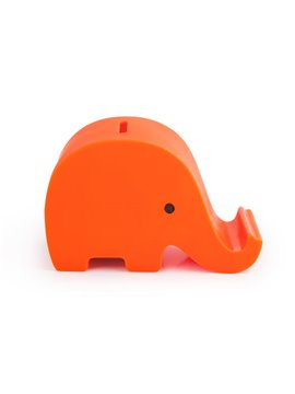 Alcancia Elephant Elaborada En PVC Con Diseno de Elefante - Naranja