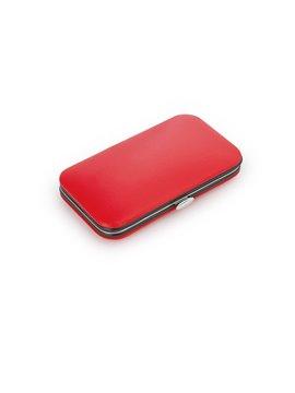 Set Estuche Manicure Pull 7 Acccesorios Cierre a Presion - Rojo