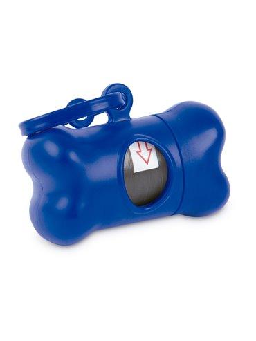 Dispensador de Bolsa para Mascota tipo Hueso - Azul