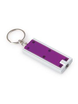 Llavero con Argolla y Mini Linterna con Luz Led - Violeta