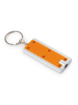 Llavero con Argolla y Mini Linterna con Luz Led - Naranja