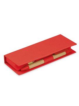 Memo Slim Estuche de carton con bolsillo de regla - Rojo
