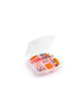 Estuche Plastico Set Escritorio Bright Varios Accesorios - Naranja