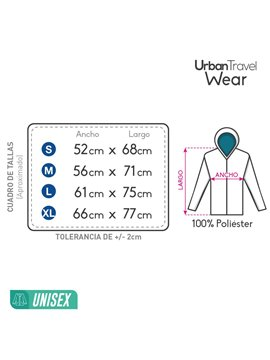 Chaqueta Urban Travel Ultralight En Poliester - Rojo/M