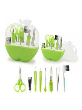 Set de Manicure Estuche Forma de Manzana - Verde Claro